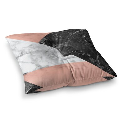 Geo Marble and Art Deco Floor Pillow Size: 23 x 23