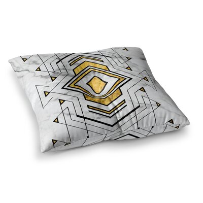 Geo Marble Graphic Tribal Floor Pillow Size: 23 x 23