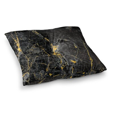 Fleck Marble Digital Abstract Floor Pillow Size: 23 x 23