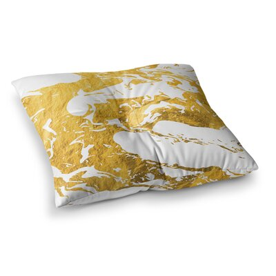 Ink on Water Metal Floor Pillow Size: 26 x 26