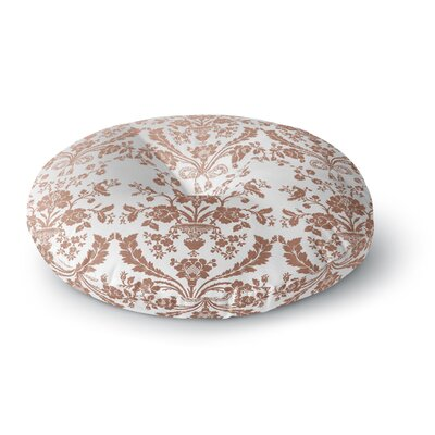 Baroque Rose Gold Abstract Floral Round Floor Pillow Size: 26 x 26