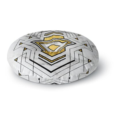 'Geo Marble Graphic' Tribal Round Floor Pillow Size: 26