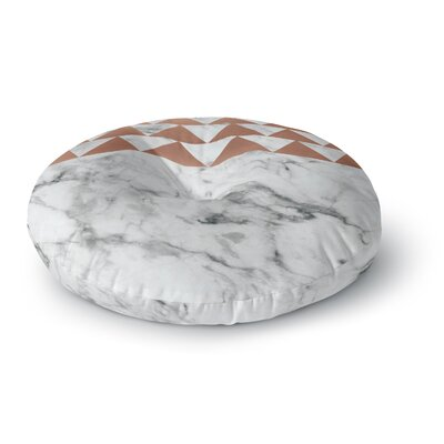 'Marble & Metal' Round Floor Pillow Size: 26