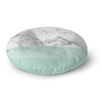 Mint Marble Fade Round Floor Pillow Size: 23 x 23