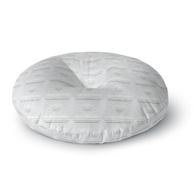 Palace Ceiling Tiles Abstract Round Floor Pillow Size: 26 x 26