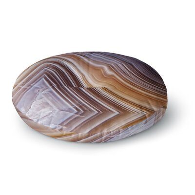 Pale Layered Agate Round Floor Pillow Size: 26 x 26