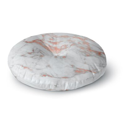 Rose Gold Flake Round Floor Pillow Size: 23 x 23