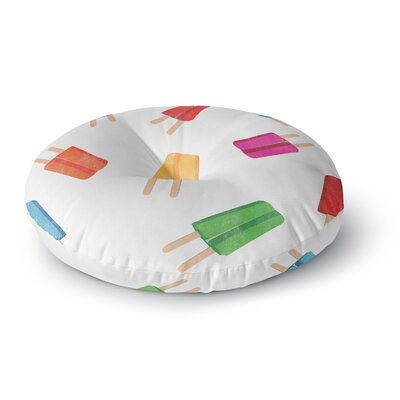 Raining Popsicle Digital Round Floor Pillow Size: 23 x 23