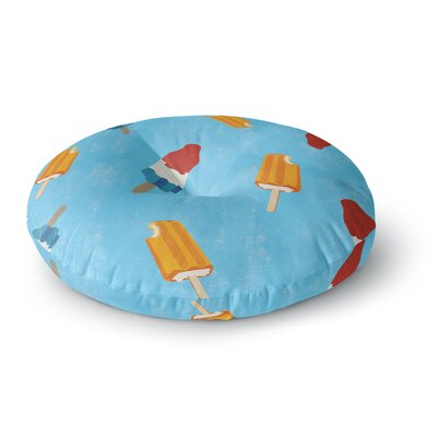 Feels like Summer Food Round Floor Pillow Size: 26 x 26