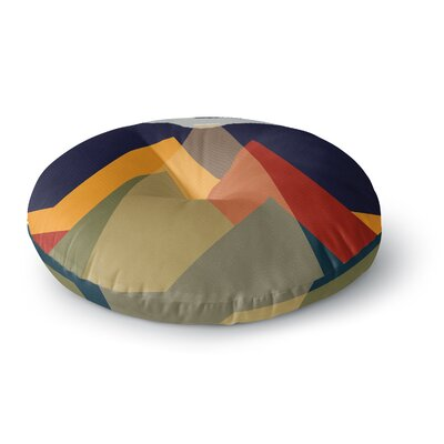 Abduct Me Geometric Fantasy Round Floor Pillow Size: 23 x 23