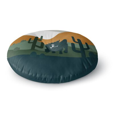 Cyclops Fantasy Creature Round Floor Pillow Size: 23 x 23
