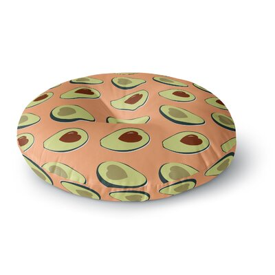 Avacado Love Food Round Floor Pillow Size: 23 x 23