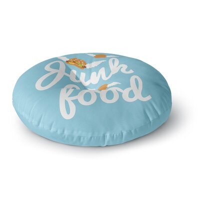 Junk Food Burger Round Floor Pillow Size: 23 x 23