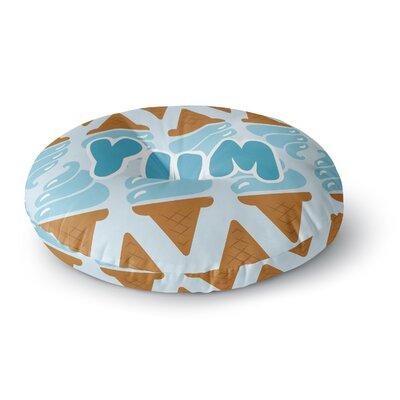 Yum! Ice Cream Round Floor Pillow Size: 26 x 26