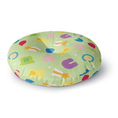 'Charms of Luck' Round Floor Pillow Size: 26