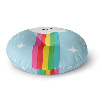 Mr. Rainbow Kids Round Floor Pillow Size: 23 x 23