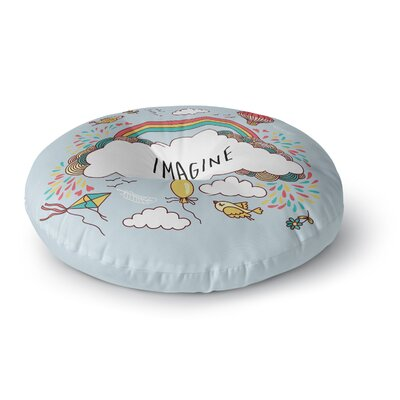 Imagine Fantasy Illustration Round Floor Pillow Size: 26 x 26