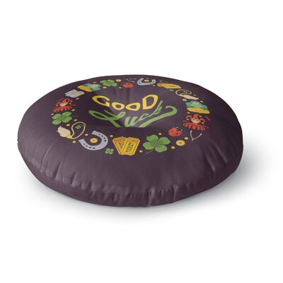 Good Luck! Round Floor Pillow Size: 26 x 26