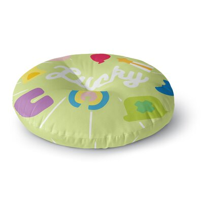 Lucky Round Floor Pillow Size: 23 x 23