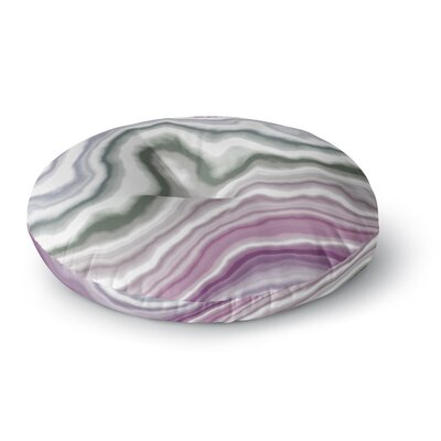 Wild Boysenberry Geological Round Floor Pillow Size: 23 x 23