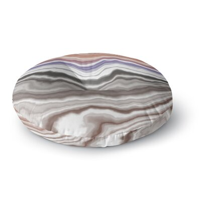 'Iris Lake Bed' Geological Abstract Round Floor Pillow Size: 26
