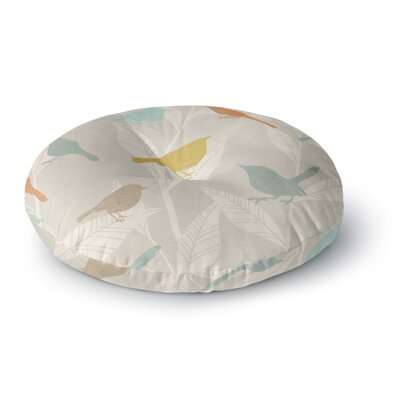 Tweet Nature Round Floor Pillow Size: 23 x 23
