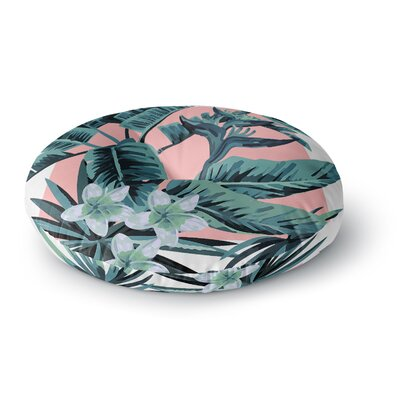 Monstera Nature Pop Art Round Floor Pillow Size: 23 x 23