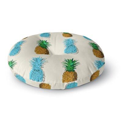 Fineapple Food Abstract Round Floor Pillow Size: 26 x 26