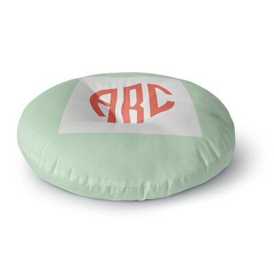 Classic Monogram Green  Monogram Round Floor Pillow Size: 23 x 23