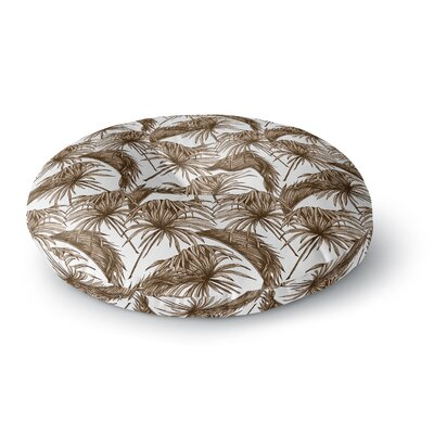 Palmtastic Tan Abstract Round Floor Pillow Size: 23 x 23