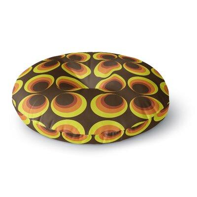 Owl Eye Vintage Round Floor Pillow Size: 23 x 23