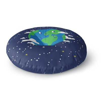 Happy Earth Round Floor Pillow Size: 23 x 23