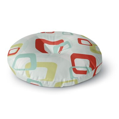 Retro Squares Round Floor Pillow Size: 26 x 26
