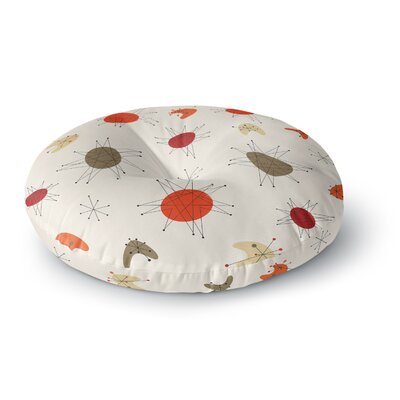Retro Party Round Floor Pillow Size: 23 x 23