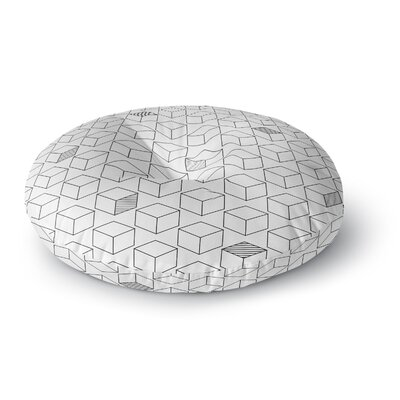 Shade Cubed Round Floor Pillow Size: 23 x 23
