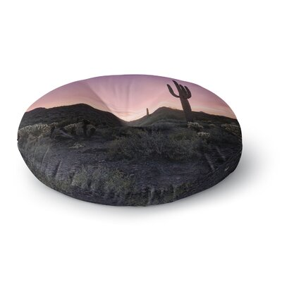 Tucson Sunset Round Floor Pillow Size: 23 x 23