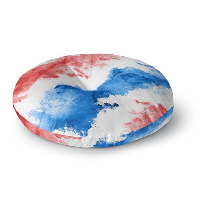 Patriotic Watercolor Round Floor Pillow Size: 23 x 23