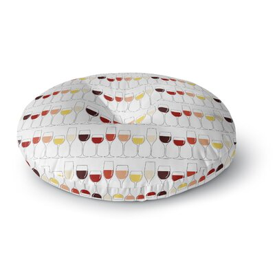Fine Wines Round Floor Pillow Size: 23 x 23