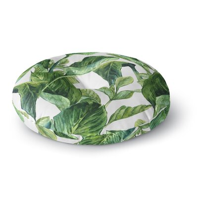 'Banana Leaves' Round Floor Pillow Size: 26