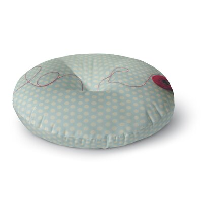 Kristi Jackson 'String of Love' Photography Round Floor Pillow Size: 26
