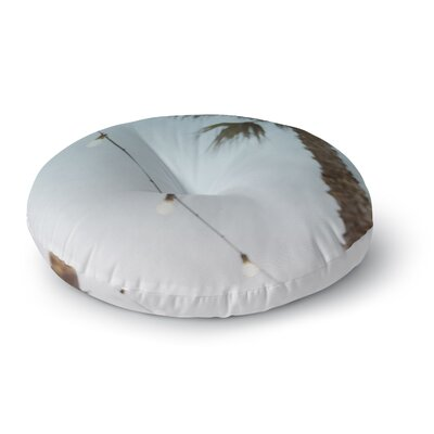 Kristi Jackson 'Summer Nights' Coastal Round Floor Pillow Size: 23