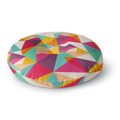 Kathleen Kelly Diamond Geometric Round Floor Pillow Size: 26 x 26