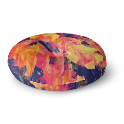 Kathryn Pledger Geo Flower Abstract Round Floor Pillow Size: 26 x 26