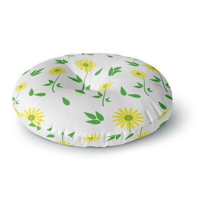 Louise Daisy Round Floor Pillow Size: 26 x 26
