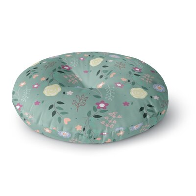 Louise Flora Flowers Round Floor Pillow Size: 23 x 23