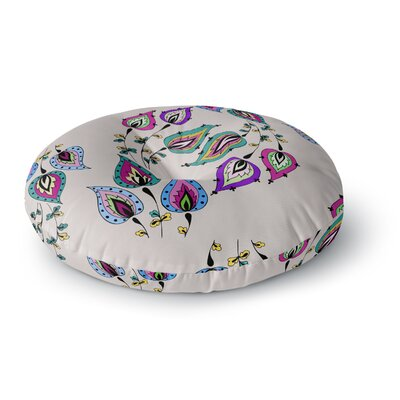 Louise Leave Round Floor Pillow Size: 26 x 26