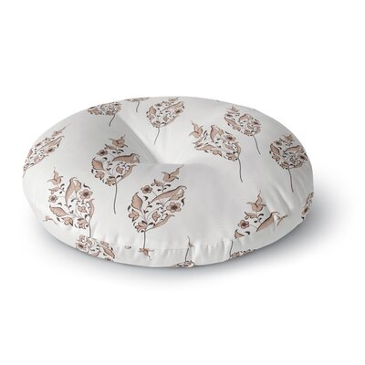 Louise Pattern Flower Round Floor Pillow Size: 26 x 26