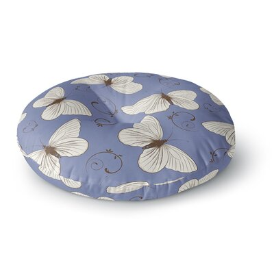 Louise Butterflies Round Floor Pillow Size: 23 x 23