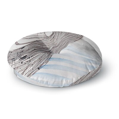Louise Breeze Round Floor Pillow Size: 26 x 26