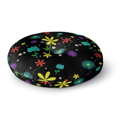 Louise Flower I Round Floor Pillow Size: 23 x 23